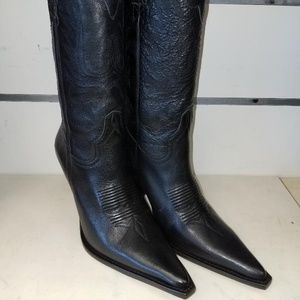 Lucchese I4566 Black Calf Western Fashion boot